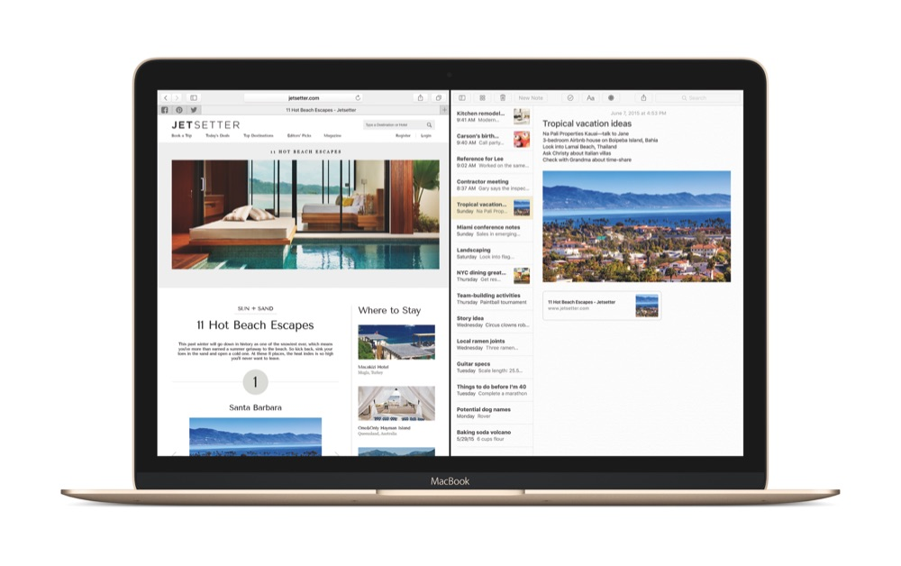 【OS X Elcapitan】2画面を左右に並べる「Split View」の使い方