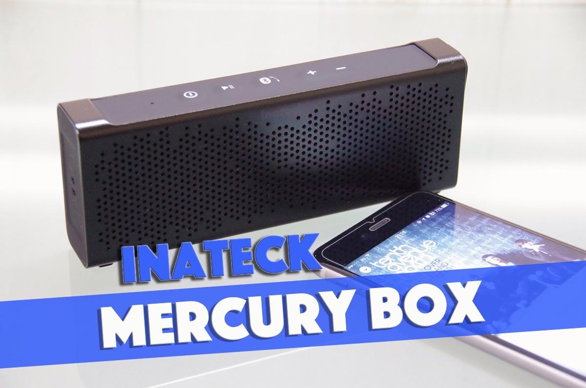 アルミボディで高級感あるオシャレな防水スピーカー「Inateck Mercury BOX」レビュー
