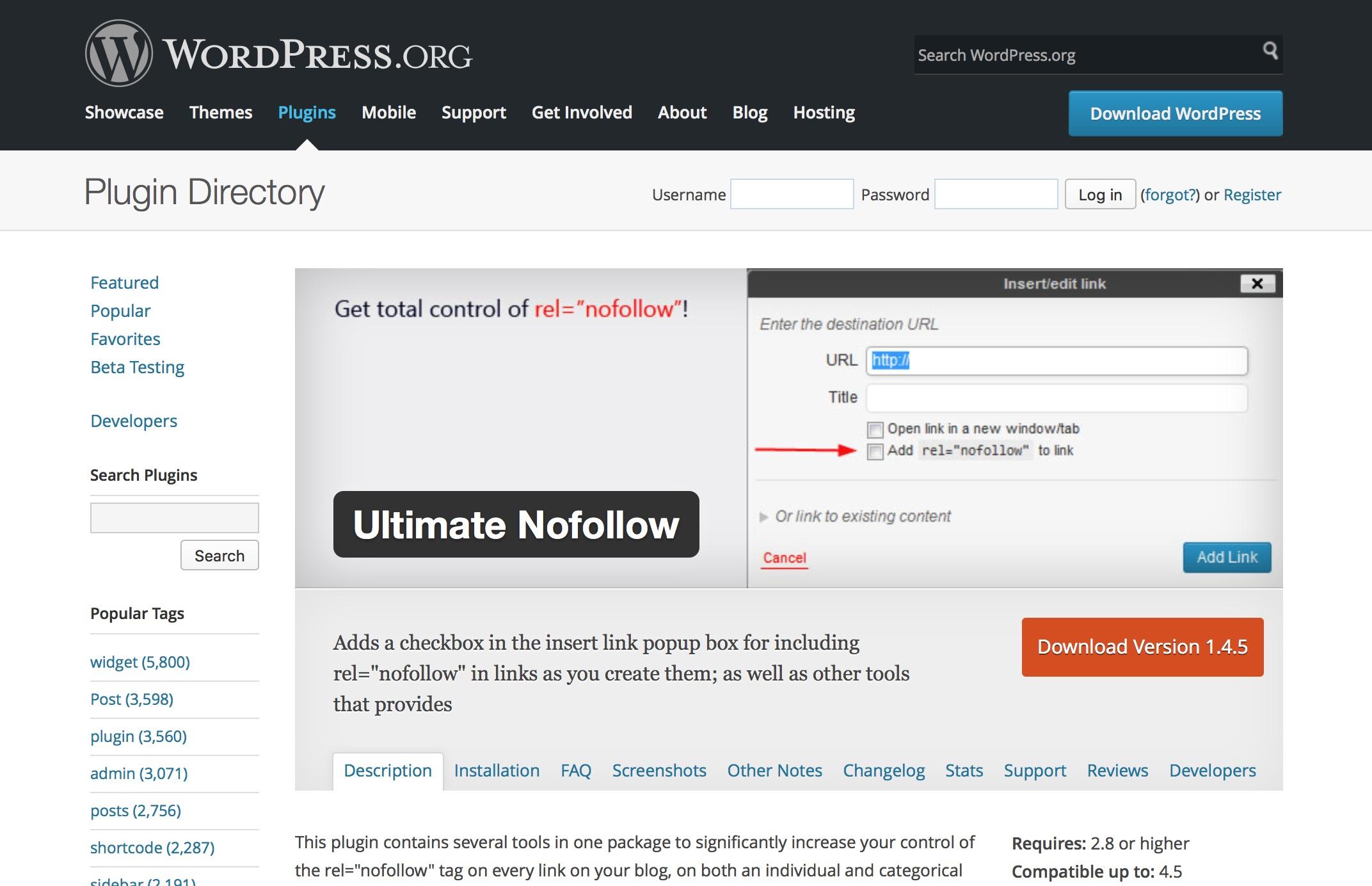 WordPressでリンク個別に「nofollow」を追加できるプラグイン「Ultimate nofollow」が便利!