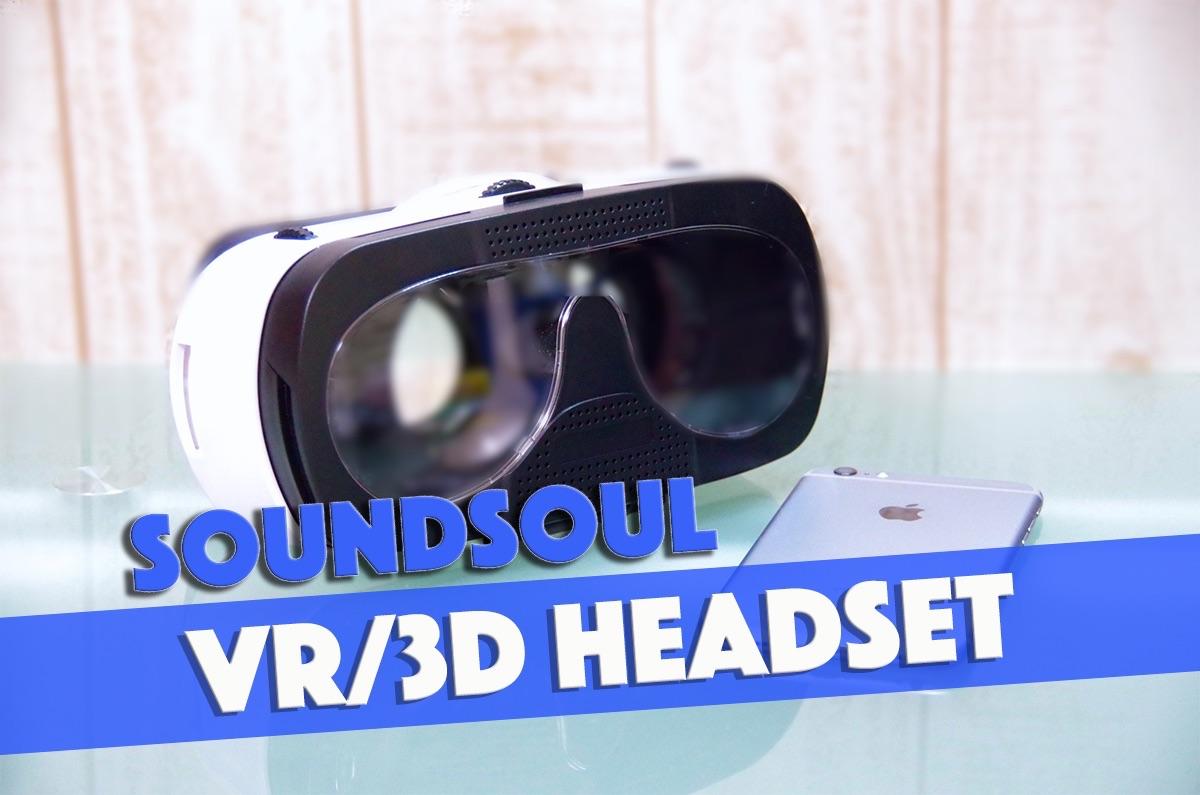【レビュー】スマホをはめるだけ!今話題のVRを手軽に楽しめる「SoundSOUL VR/3Dヘッドセット G3」を使ってみた!