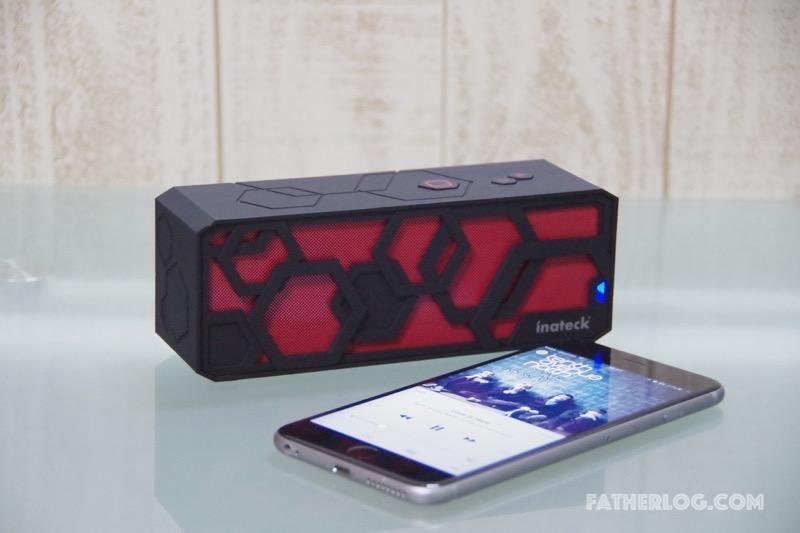 【レビュー】ポータブル性を重視したスピーカー「Inateck低音強化Bluetoothスピーカー」を使ってみた