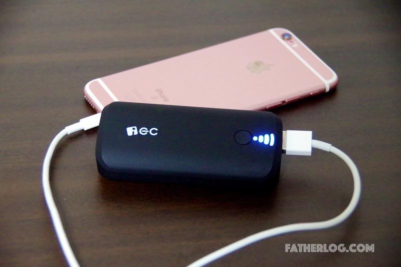 手のひらサイズなお手軽モバイルバッテリー「EC Technology製モバイルバッテリー」はいざという時に便利【レビュー】