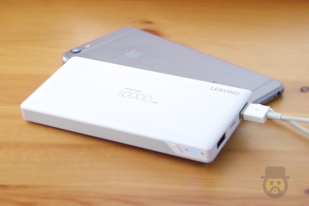 薄型で持ち運びに便利な「LERVING モバイルバッテリー 10000mAh」ポケモンGOにもオススメ!【レビュー】