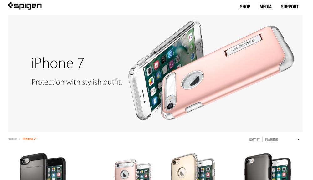 Spigen製「iPhone 7/Plus」保護ケースの製品ページが既に公開!やはりイヤホンジャックは廃止、Plusのみデュアルカメラ搭載で確定!?