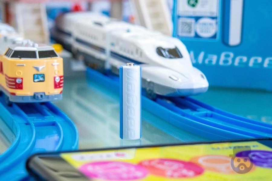 【レビュー】スマホでおもちゃを動かせる乾電池「MaBeee」を使ってプラレールで遊んだら、子どもと100倍楽しめるぞ![PR]