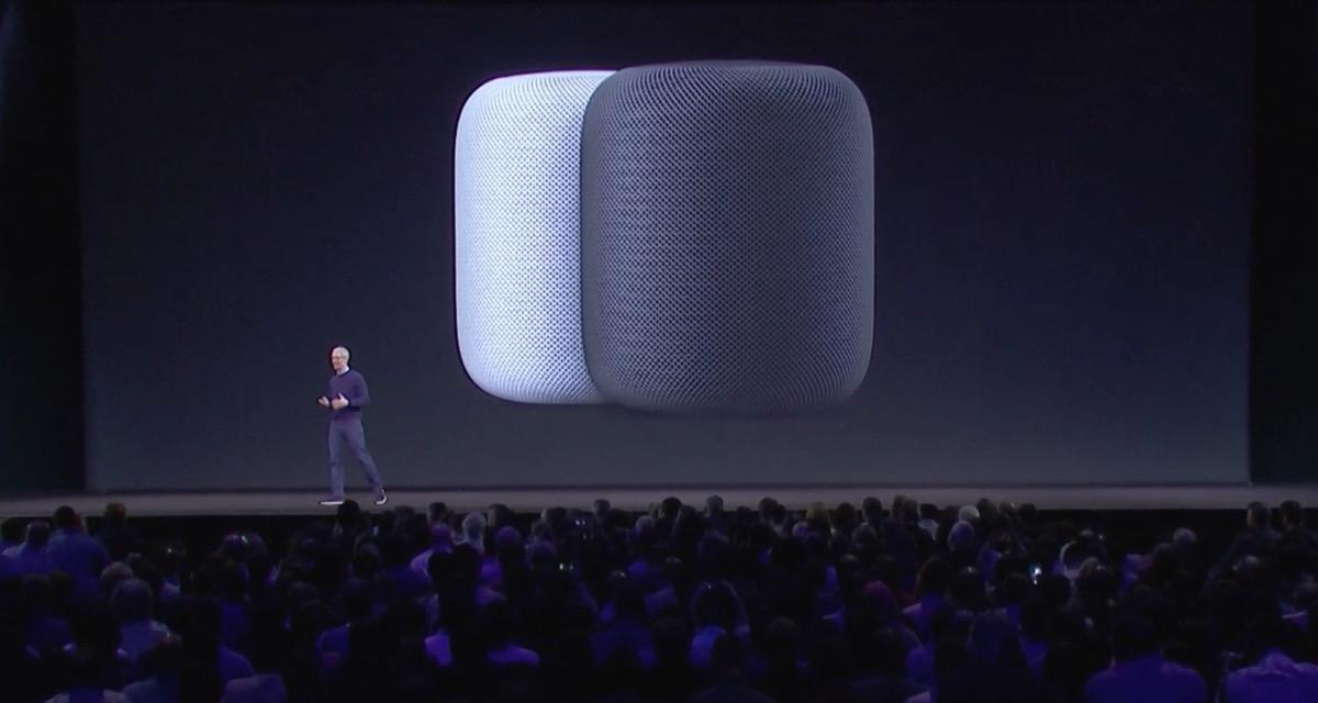 Apple、Siriを搭載した自宅据置型スマートスピーカー「HomePod」を発表!音質も重視、空間自動認識機能も搭載!