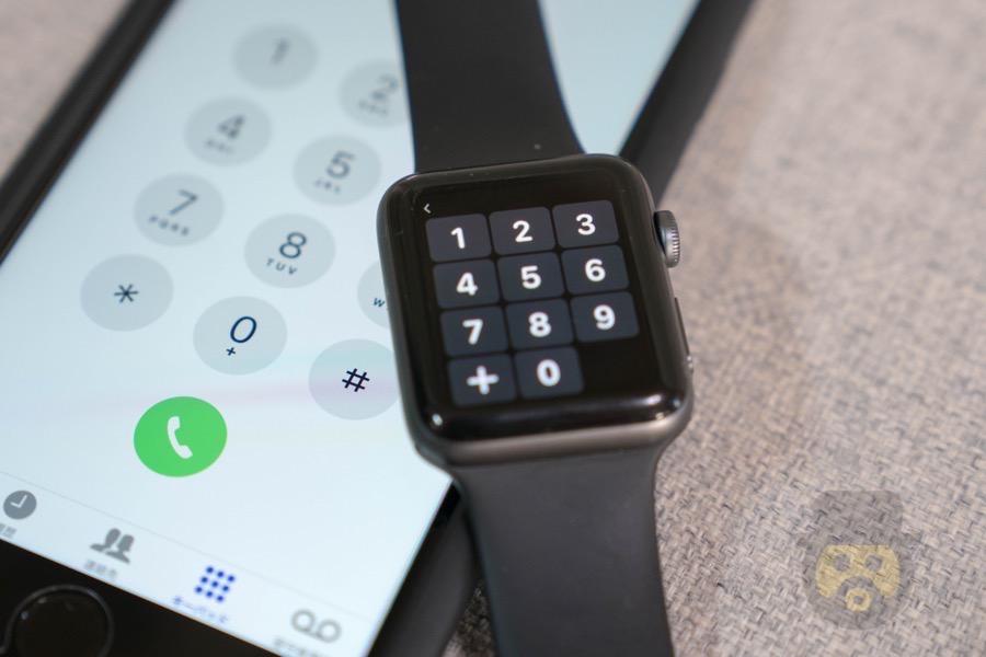 watchOS 4では「キーパッド」が追加、直接番号入力で電話発信が可能!