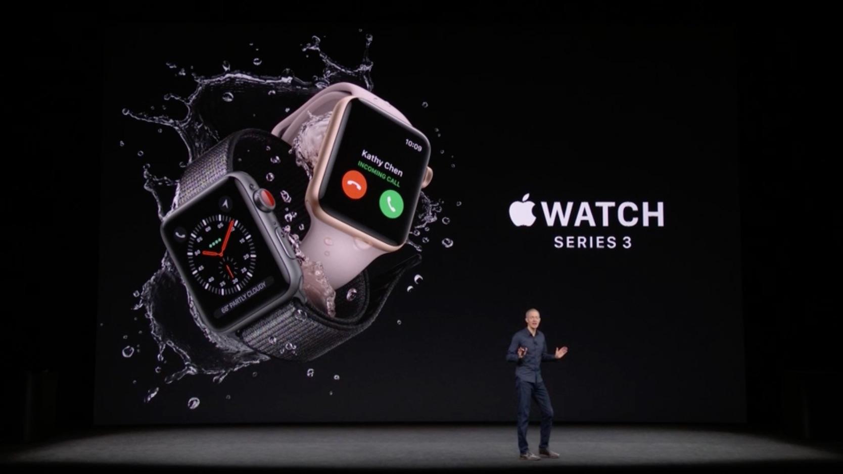 Apple、Apple Watch Series 3を正式発表!新機能や性能などイベント発表まとめ