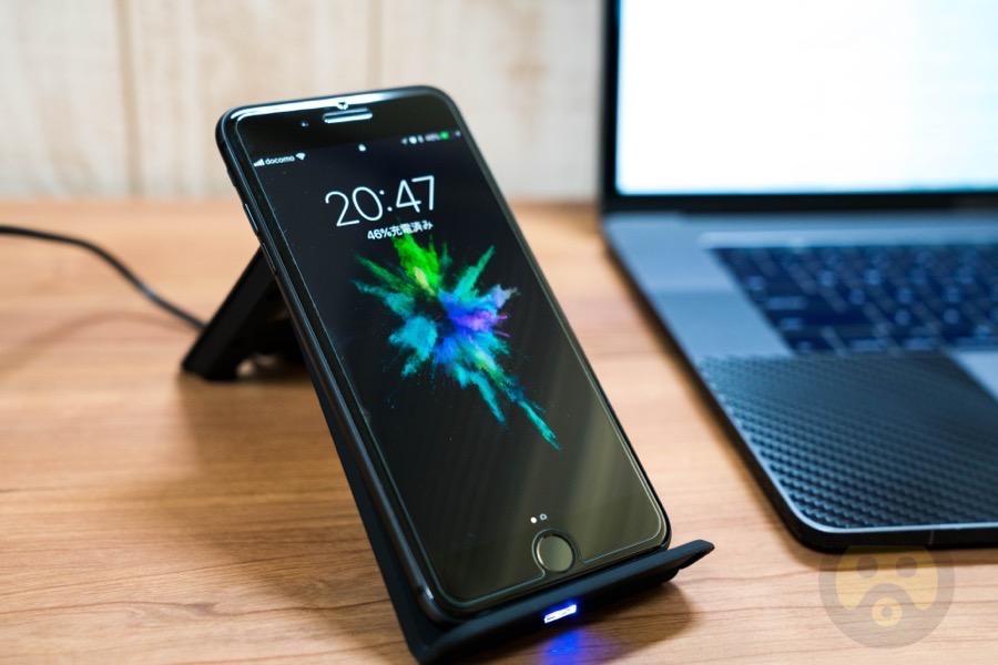 【レビュー】Spigen製ワイヤレス充電器F303WでiPhone 8 Plusを充電!斜めスタンドで充電中も画面が見やすい!