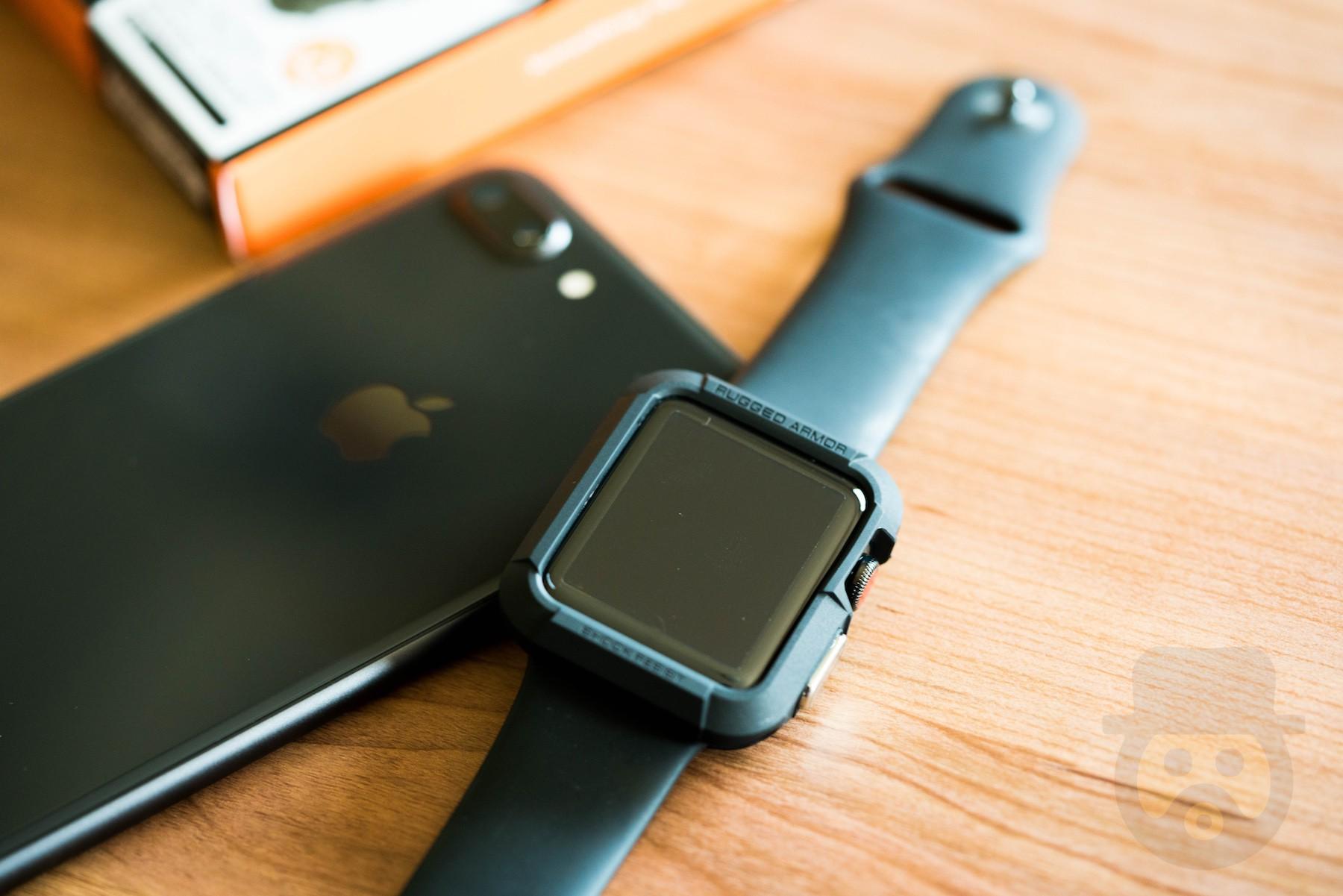 【レビュー】Apple Watch Series 3にSpigen「ラギッド・アーマー」を装着!傷や衝撃からしっかり保護してくれる安心感が抜群!