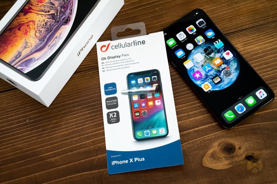 【レビュー】iPhone XS Max用保護フィルム、CellularLine「OK Display」を貼ってみた!